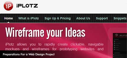 With iPlotz you can create clickable, navigable wireframes to create the experience of a real website or software application.