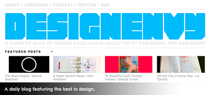 A daily blog featuring the best in design.