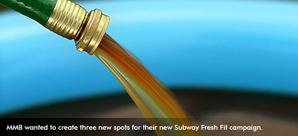 MMB wanted to create three new spots for their new Subway Fresh Fit campaign.