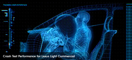 Test performance for Lexus &quot;light&quot; commercial