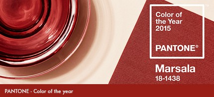 Pantone has announced Marsala, a naturally robust and earthy wine red, as the Color of the Year for 2015.