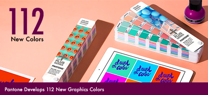 Pantone Develops 112 New Graphics Colors to Reflect New Possibilities of Design